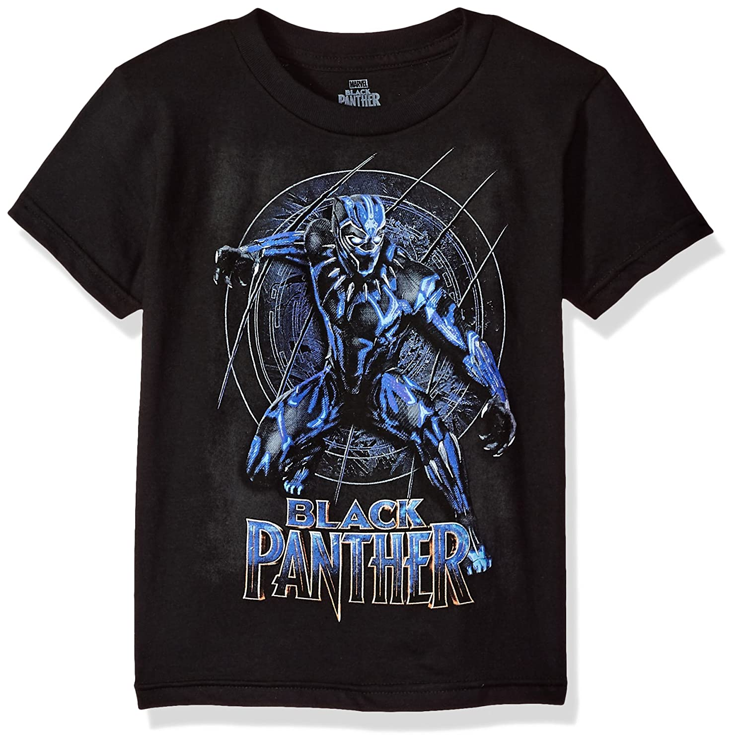 Marvel Boys' Black Panther Movie Logo Short Sleeve T-Shirt