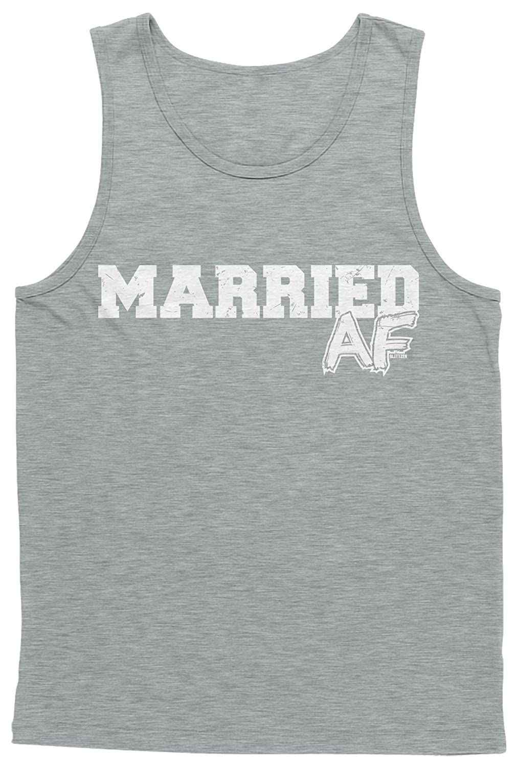 Blittzen Mens Tank Top Married AF