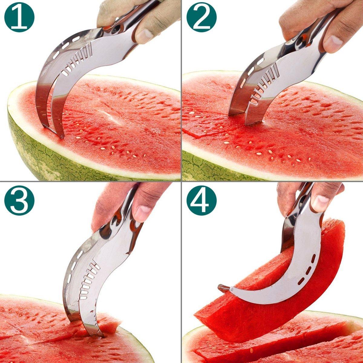 Tacoli- 20.82.62.8CM Stainless Steel Watermelon Slicer Cutter Knife Corer Fruit Vegetable Tools Kitchen Gadgets