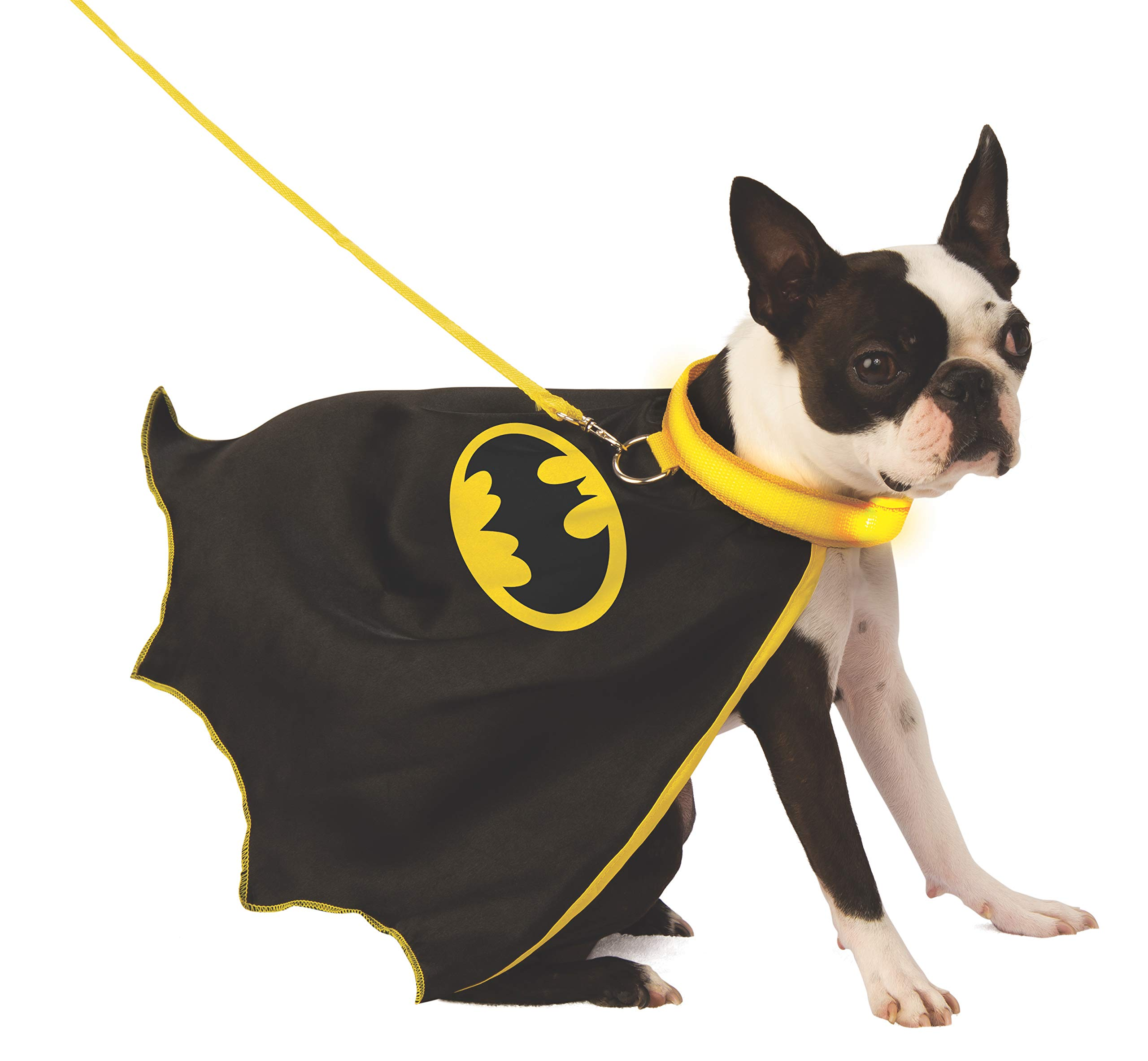 DC Batman Pet Cape with Light-Up Collar & Leash, Medium by Rubie's