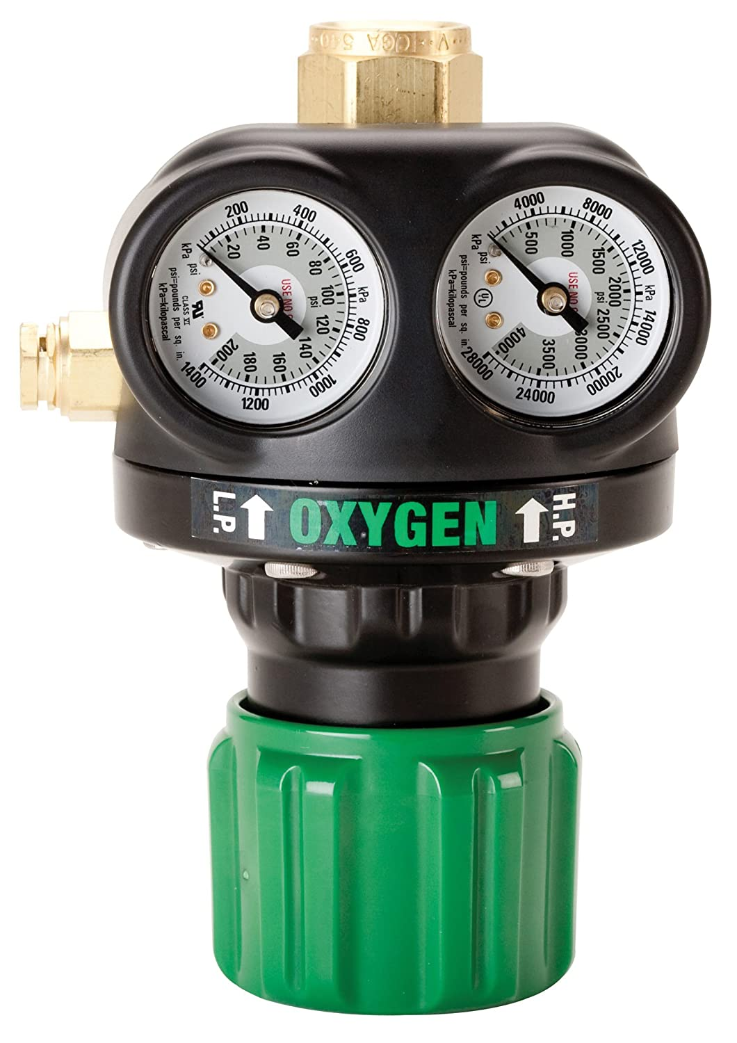 Victor Technologies 0781-5127 ESS4-125-540 High Capacity Single Stage Oxygen Regulator, 5-125 psig Delivery Range, CGA 540 Inlet Connection