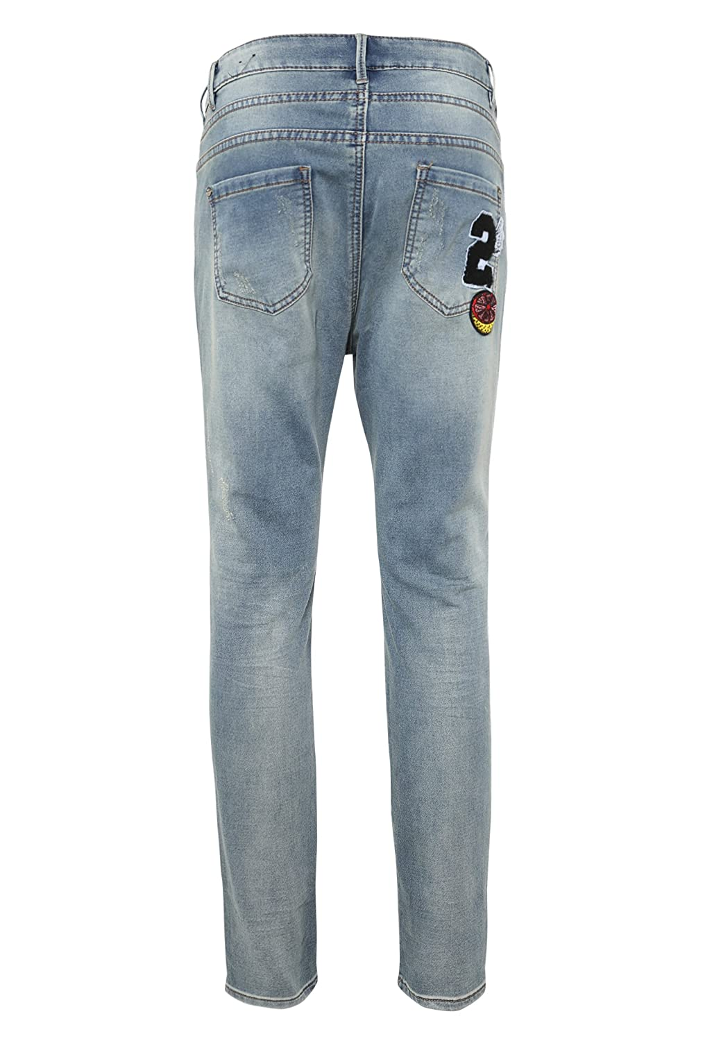 Eight2Nine Damen Sweat-Jeans mit Patches | Bequeme 5 Pocket Sweatpants in  Jeansoptik: Amazon.de: Bekleidung