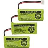 Geilienergy Rechargeable Battery For AT&T and Vtech Phones BT-8300 / BATT-6010 / BT18433 / BT184342 / BT28433 / BT284342 / 89-1326-00-00 / 89-1330-01-00 / CPH-515D (Pack of 3)