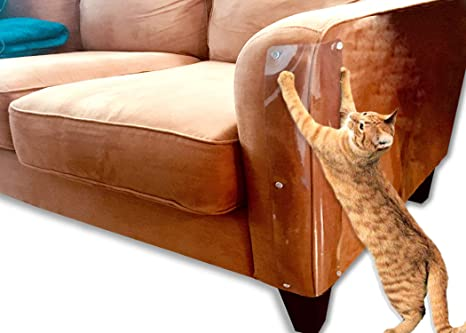 Set of 2 Heavy Duty Flexible Plastic Shields Protect Your Furniture with Our Deluxe Heavy Duty Furniture Scratch Shields LAMINET The Original Deluxe Cat Scratch Shields 11 x 5.5