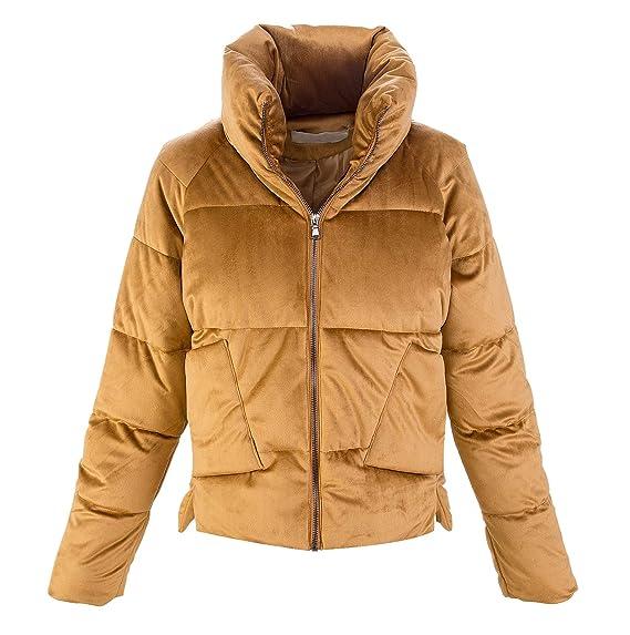 brand new a5151 d8566 Damen Winter Jacke Samtjacke Trichterkragen Warm D-404