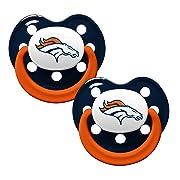 NFL Football 2014 Baby Infant Pacifier 2-Pack - Pick Team (Denver Broncos - Holes)
