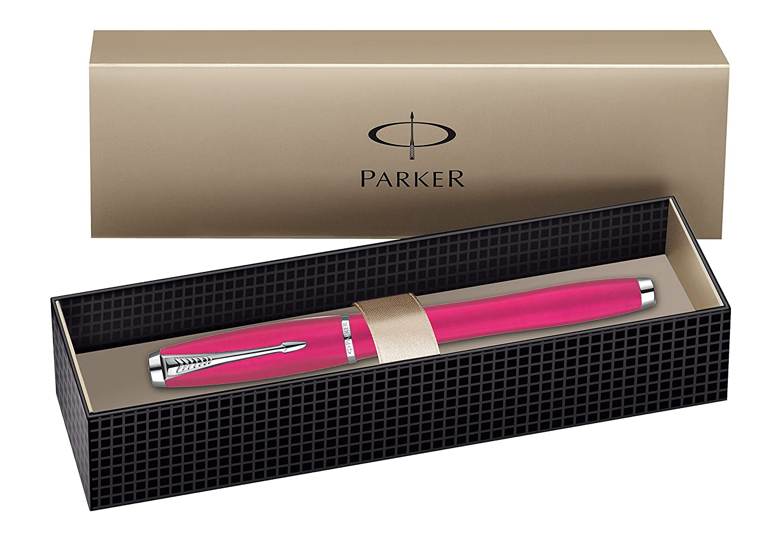Muted Black Parker Urban Chrome Trim Rollerball Pen Gift Boxed