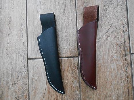 Una pieza funda de cuero para la caza, cuchillos o estilo ...