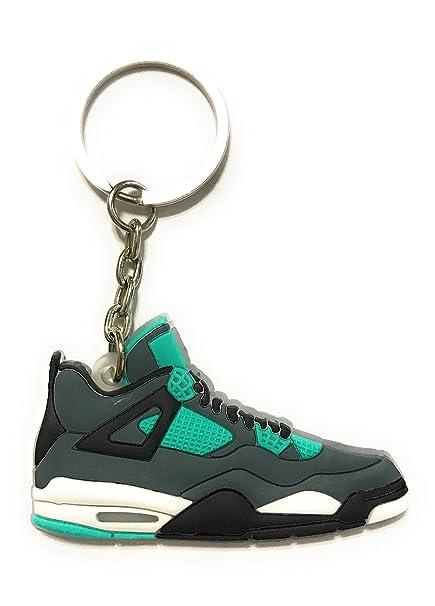 Zapatos Sneaker llavero aj-4 Retro, Verde: Amazon.es ...