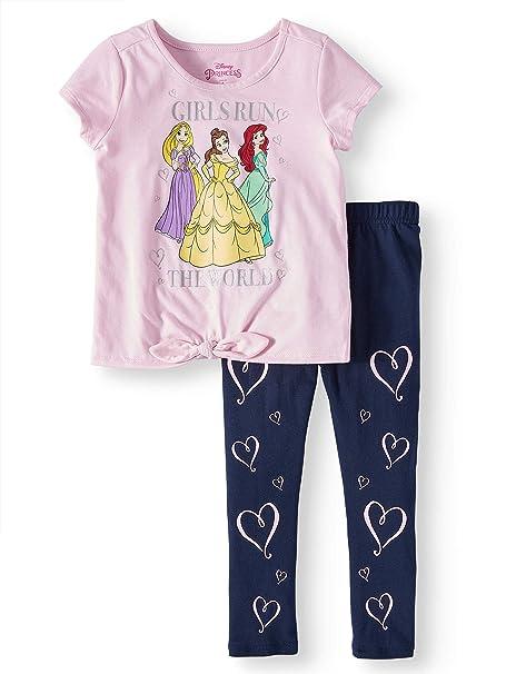 Amazon.com: Princess Belle, Rapunzel, y Ariel Tie-Front Tee ...