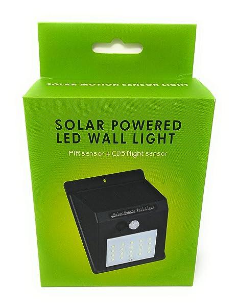 4 X Faretto Da Esterno 20 Led Con Sensore Crepuscolare E Pannello Solare Facile Installazione