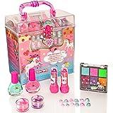 Style Girlz Unicorn Carry All Cosmetic Set - Girls Make-up Kit - Nail Polish - Eye Shadow - Lip Balm - Stick On Nail Stickers