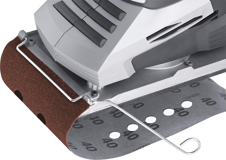 Klemmbefestigung /& Staubabsaugung Inkl Drehzahl-Vorwahl Staubfangbox // Rutscher mit Schleifbl/ätter // 5456230 Stufenlos einstellbare Schwingfrequenz Meister Schwingschleifer 320 W MFS320-1