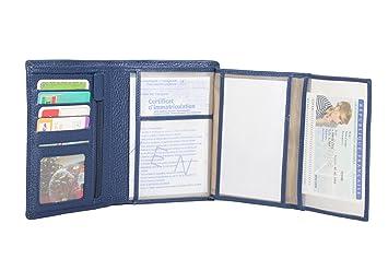 Frédéric Johns - Grand portefeuille en cuir de vachette véritable très  pratique avec 4 volets - fbc1c84a120