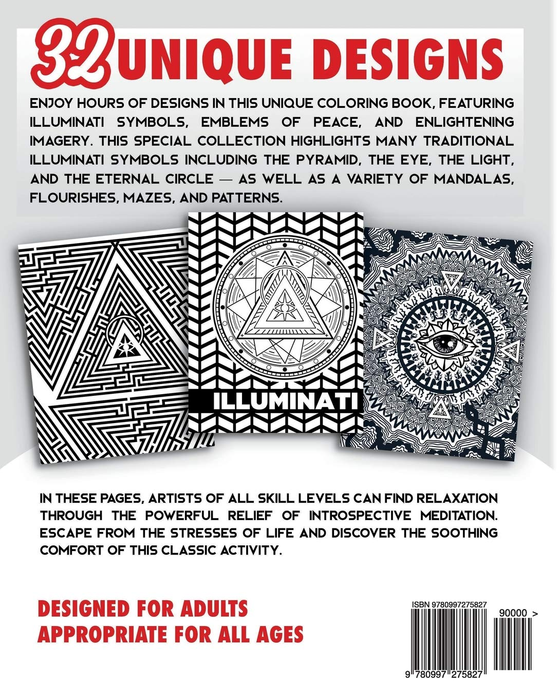 Illuminati Coloring Book For Adults Stress Relieving Rituals Of
