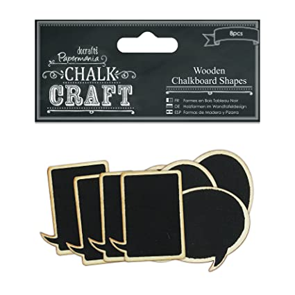 Amazon.com: DOCrafts Speech Bubbles Chalk Craft Wooden ...