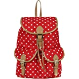Lychee Bags Women's Red Canvas Lucy Backpack
