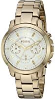 Fossil Women's Quartz Stainless Steel Casual Watch, Color:Gold-Toned (Model: ES4037)
