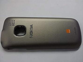 cheap for discount 82d6f d60bd Original Nokia C1-01 Back Cover Silver With Orange Logo: Amazon.co ...