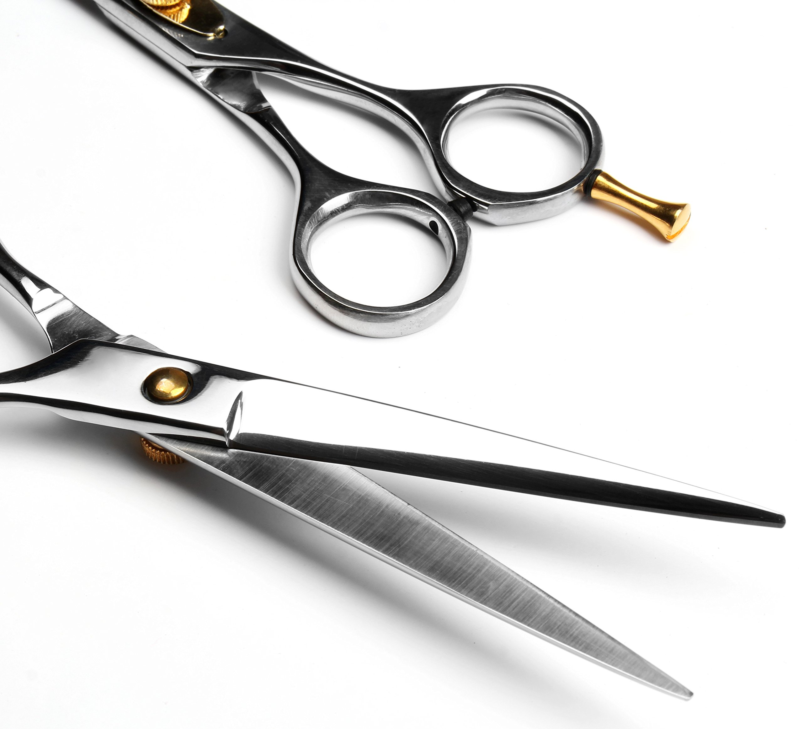 Professional Barber Scissor 6.5 Inch Razor Edge Blade Rust Free Stainless Steel Chrome Plated Shears For Smooth Cutting - Easy Grip Hairdressing Cosmetic Scissors by MB (Image #3)