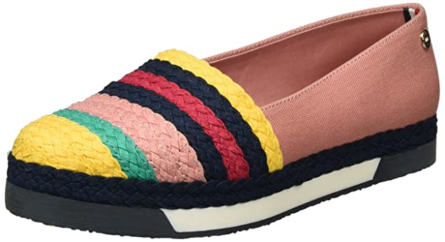 Tommy Hilfiger Y1285ork 1s, Mocasines para Mujer, Rosa (Rose Dawn-Old Gold 901), 41 EU: Amazon.es: Zapatos y complementos