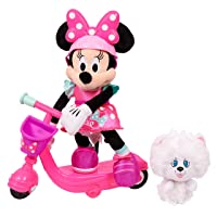 Deals on Minnie Helper Scooter 13-inch Feature Plush