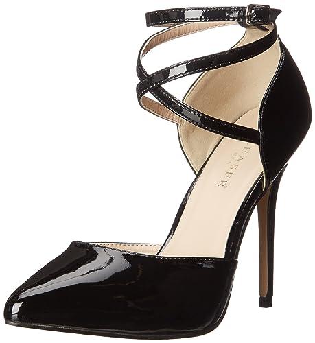 PleaserAmu25/b - Zapatos de Tacón mujer,Negro (Negro (Blk Pat)