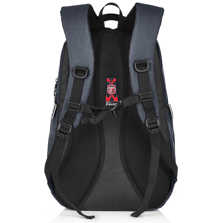 1397d6eb3a57 Amazon.com  Taikes Water Resistant Backpack 15.6 Inch Laptop Travel Bag Men  Women - Black  Shoes