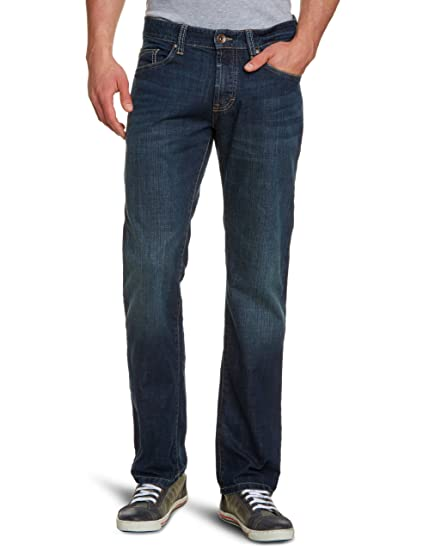 b781d7ad13 camel active Men's Woodstock Straight Leg Jeans - Blue - W30: Amazon.co.uk:  Clothing