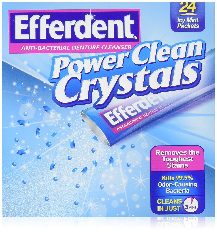Efferdent Power Clean Crystals, 24 Count No Model
