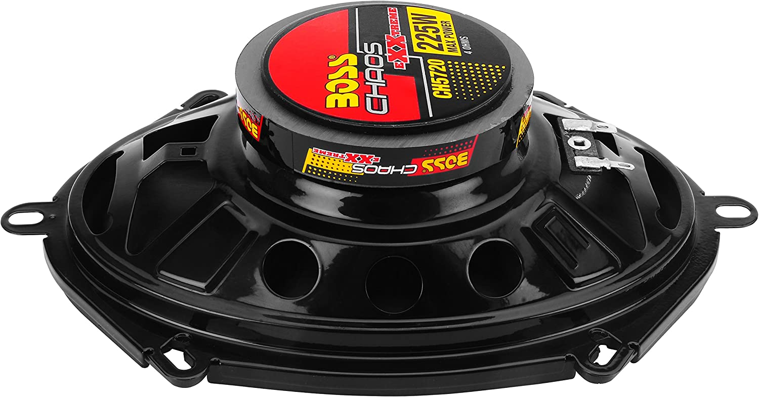 225 Watts of Power Per Pair and 112.5 Watts Each Easy Mounting Full Range BOSS Audio Systems CH5720 Car Speakers 2 Way Sold in Pairs 5 x 7 Inch