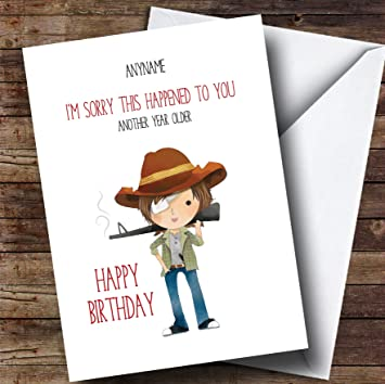 The walking dead carl personalised birthday card amazon the walking dead carl personalised birthday card m4hsunfo