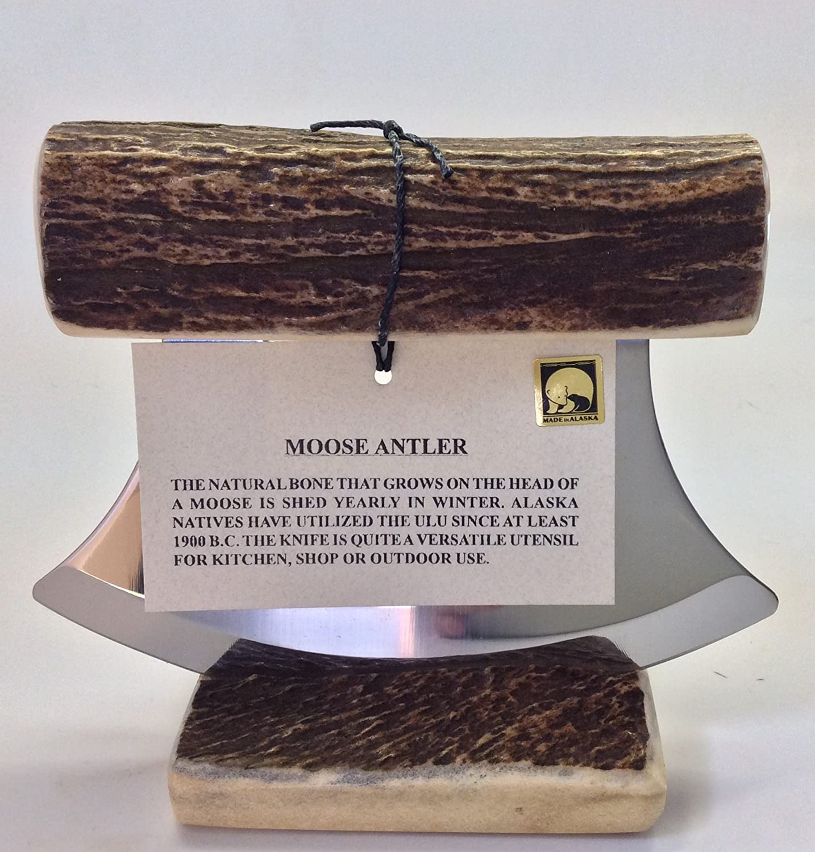 Alaska - Soporte para cuchillos de alce natural Ulu: Amazon ...