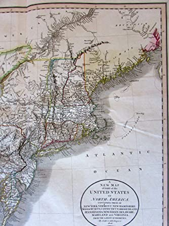 Old New England Map.Amazon Com New England Great Lakes Western Territory 1806 John Cary
