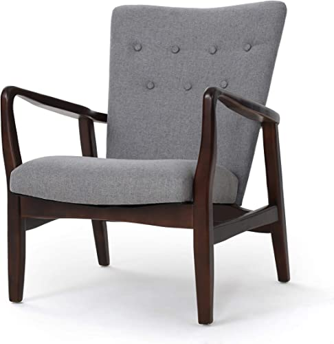 Christopher Knight Home Becker Fabric Arm Chair, Grey