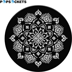 58412187d419 PopSockets  Collapsible Grip   Stand for Phones and Tablets - Quiet  Darkness Mandala