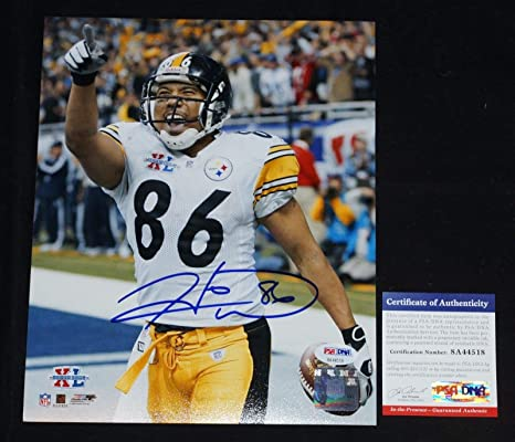 2887c304eca Image Unavailable. Image not available for. Color: HINES WARD #86 Signed  PITTSBURGH STEELERS ...