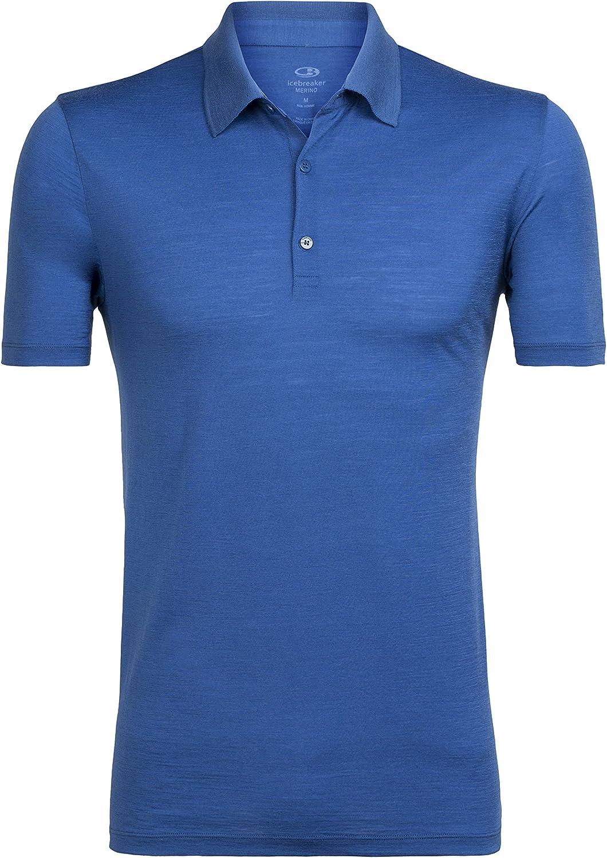 Tshirt de randonn/ée Icebreaker Mens Tech Lite SS Polo Homme