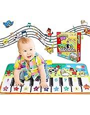 KAROLA WOSTOO Tappetino per Pianoforte, Tappetino per la Musicale Baby Educazione Precoce 8 Suoni, Tocco Giocattoli Pianoforte Piano Musicale Giocattoli per Bambini Regalo per Bambini