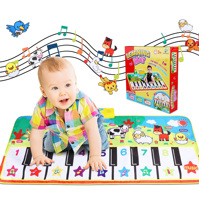 Alfombra de Teclado T/áctil Musical Touch Juego Musical Port/átil Electr/ónico Educativo Musical Tapete de Piano Teclas para Beb/é Ni/ño Ni/ña Regalo Alfombra para piano