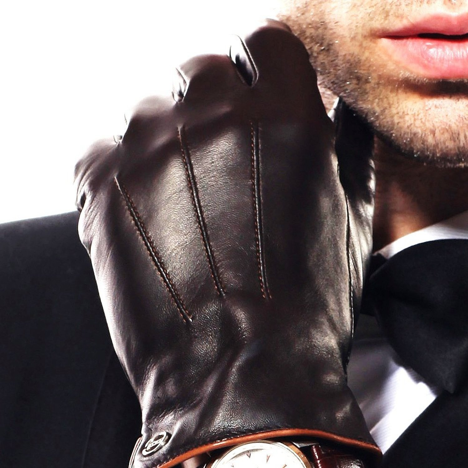 <strong>&nbsp;</strong>ELMA Luxury Italian Nappa Leather Driving Gloves