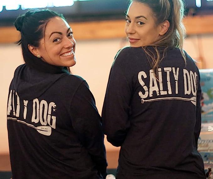 Salty Dog Paddle Mens Triblend Full-Zip Lightweight Sun-Protective Hoodie Sweatshirt