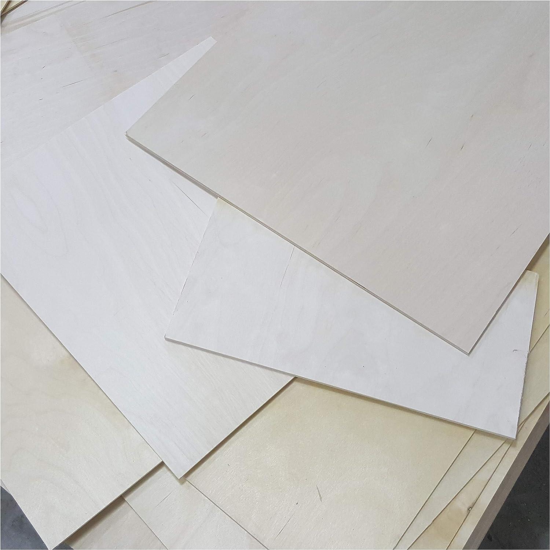 0,5m/² Reste 4mm Sperrholzplatten Zuschnitt Birke Multiplex Bastel und Laubs/äge-Holzplatten