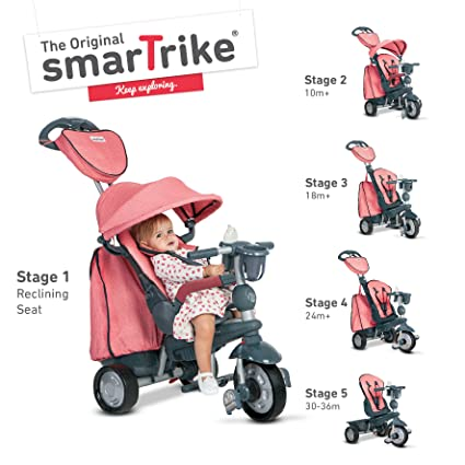 Tricycle Smart Trike Exp. Rouge 5 in1