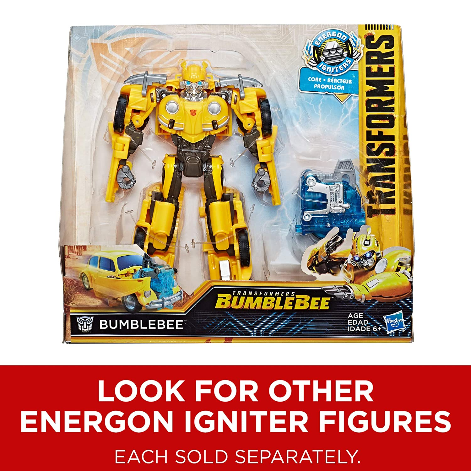 Energon Igniters Nitro Bumblebee Action Figure Toys for Kids 6 /& Up Transformers: Bumblebee Movie Toys 7 7 Hasbro E0754 Included Core Powers Driving Action