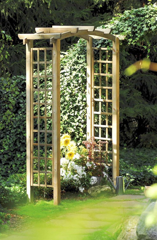 Olimpia pergola. Rosas fichas de madera de abeto para el jardín: Amazon.es: Hogar
