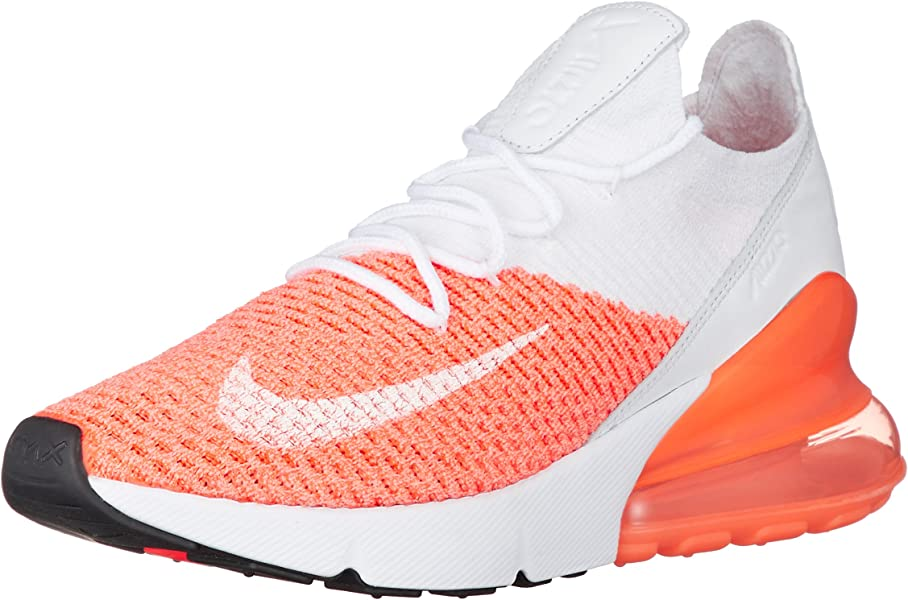 sale retailer 24267 bf54f Women's WMNS Air Max 270 Flyknit, Crimson Pulse/White, 7.5 US