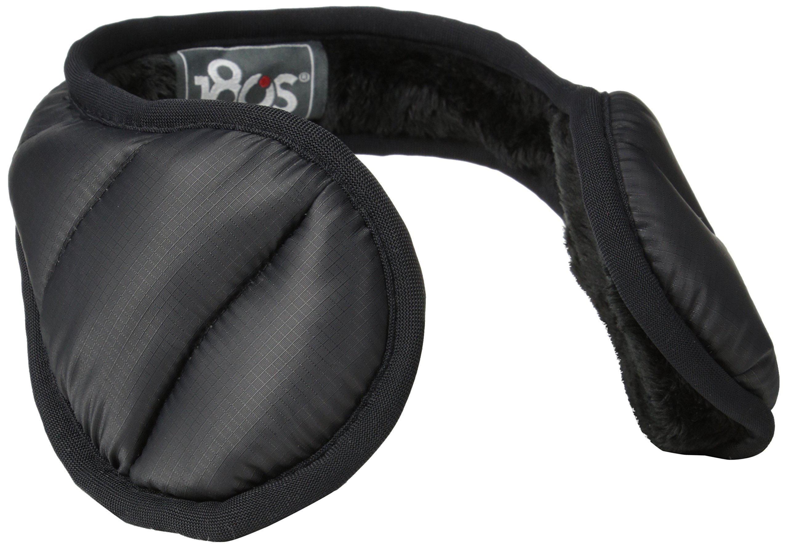 180s Women's Down Water Resistant Behind the Head Ear Warmers, Black, One Size