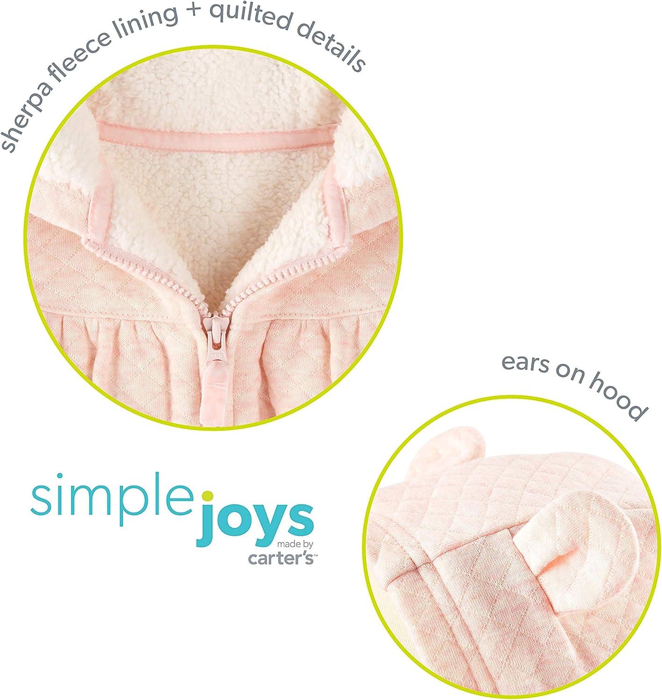 Simple Joys by Carters Sweat /à capuche avec doublure Sherpa pour b/éb/é fille