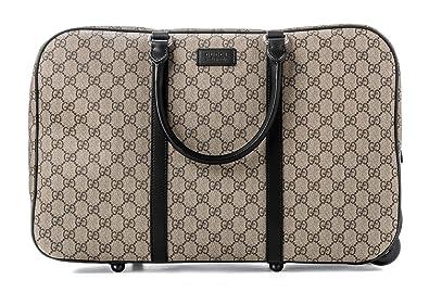 7b83ca6dd Amazon.com: Gucci Luggage Beige Ebony Travel Brown Handbag Leather ...